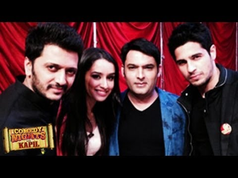 Sidharth Malhotra & Shraddha Kapoor's EK VILLAIN on Comedy Nights with Kapil 29th June 2014 EPISODE