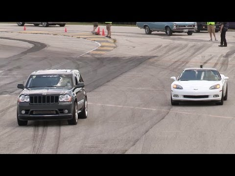 Built Jeep SRT8 vs Corvette