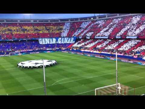 Atletico de Madrid 1 - Barcelona 0   Impresionante TIFO para recibir al equipo