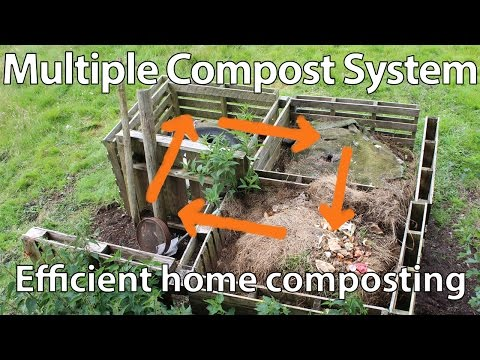Create a Multiple Compost Bin System for Efficient Composting
