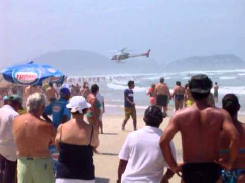 Resgate aéreo em Pitangueiras