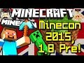 Minecraft News NEXT MINECON & 1.8 Pre Release!