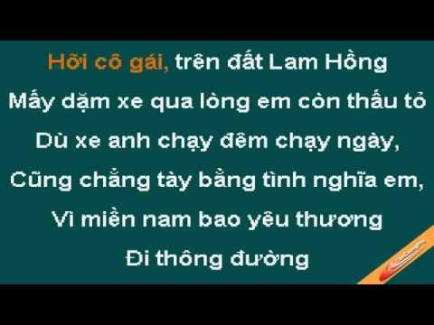 Chào Em Cô Gái Lam Hồng Beat