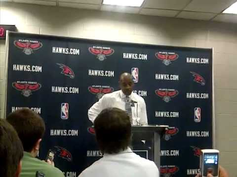 Larry Drew post game press conference after the Brooklyn Nets game on Saturday night