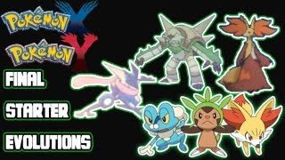 Pokemon X Y: Final Starter Evolutions Revealed! Meet