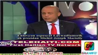 President Martelly VOA Interview Via Telehaiti