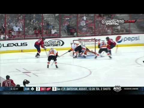 Eric Fehr goal 4-3 Philadelpia Flyers vs Washington Capitals 9/27/13 NHL Hockey