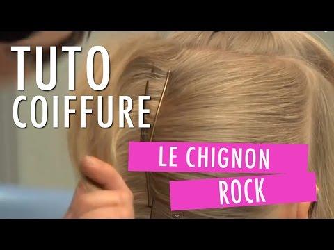 CHIGNON ROCK : comment faire une coiffure tendance - un chignon de mariage