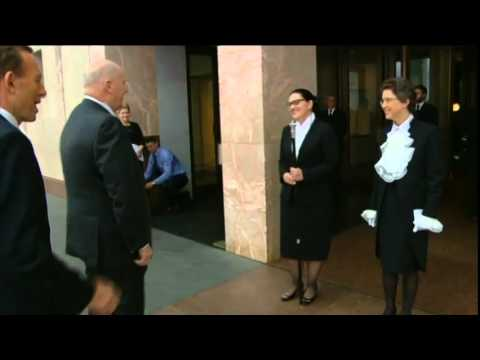 Governor General Handshake Leaves Tony Abbott Hanging