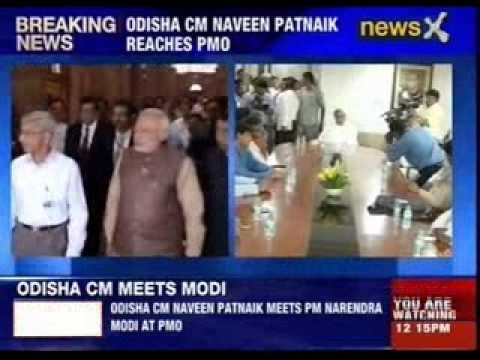 Odisha CM Naveen Patnaik meets PM Narendra Modi at PMO