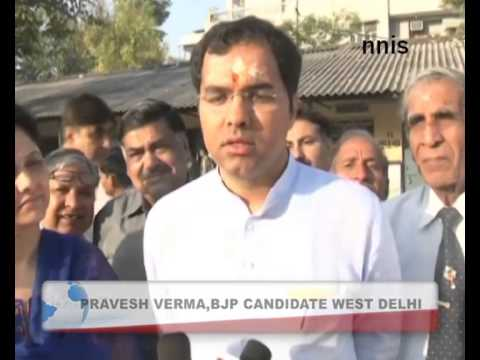 Pravesh Verma Casts His Vote From  Shalimar Bagh