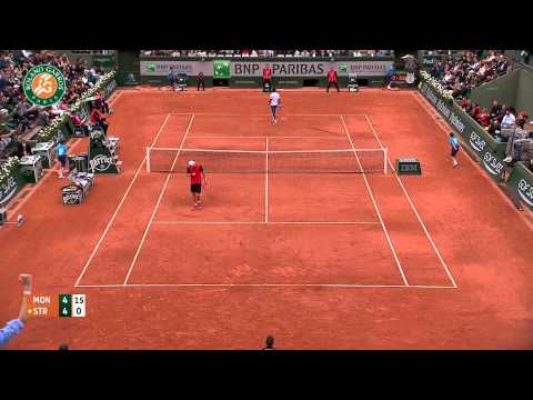 Roland Garros 2014 Thursday Highlights Monfils Struff