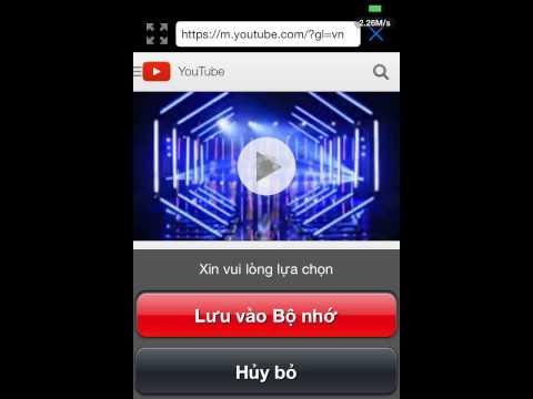 hướng dẫn tải video về iphone vào camera roll