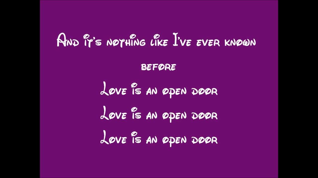 Frozen Love Is An Open Door Lyrics