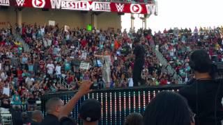 Skylar Grey Travis Barker and Kid Ink Performance at Wrestlemania 31