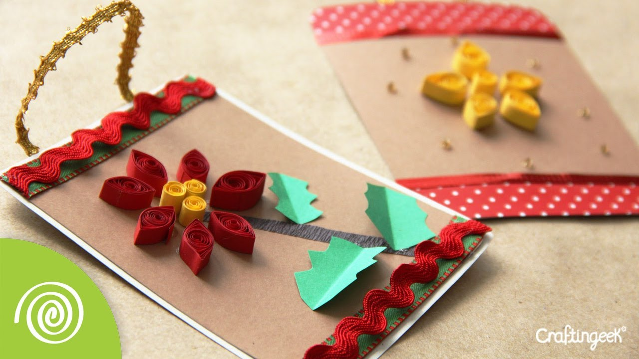 Tarjeta filigrana adorno para navidad quilling youtube - Tarjetas de navidad artesanales ...