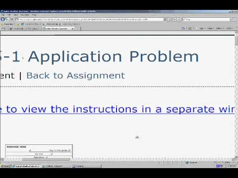 answers to aplia accounting assignments