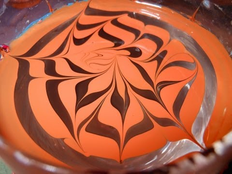 Monarch butterfly inspired water marble