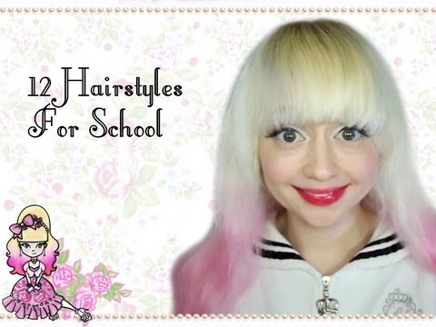 12 Easy Hairstyles For School - Violet LeBeaux - YouTube