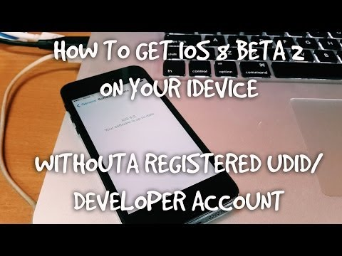 How to install iOS 8 Beta 2 for FREE without a Registered UDID or Developer Account !