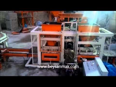 Briket Makinası / www.beysanmak.com / briket makinası üretimi Concrete block machines