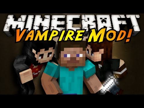 Minecraft Mod Showcase : VAMPIRES!, OH MAH GOD VAMPIRES! BLOOD SUCKING CREATURES OF THE NIGHT HAVE ENTERED MINECRAFT! GRAB YOUR HOLY CROSS AND FIGHT FOR YOUR LIFE! Download the Mod here! (Tell ...