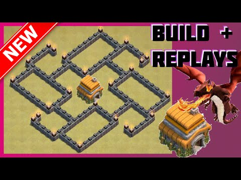 New BEST Th6 War/Trophy Base [Build+Replays] | The Hydra | Anti-Giant, Barch & Wizard