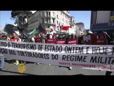 Brazil protesters disrupt Rio military parade