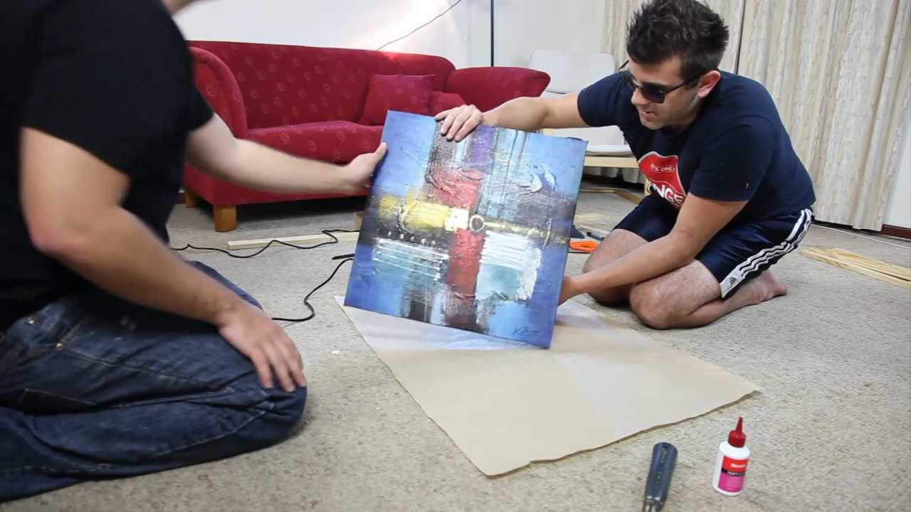 How To Build Frames For Stretching Canvas Paintings