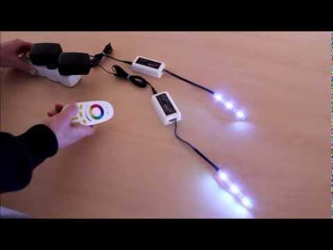 Sterownik 4-strefowy LED RGB z pilotem RF - Instrukcja