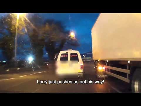 Dangerous driving uk - Lorry lane bully