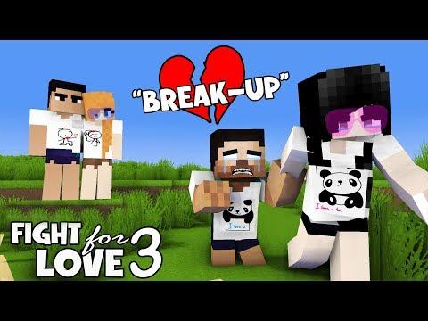 MONSTER SCHOOL : PART 3 FIGHT FOR LOVE ( SAD BREAK UP ) - ALEX , SADAKO AND HEROBRINE LOVE STORY