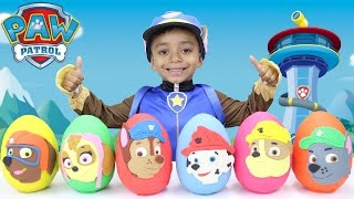 Paw Patrol Play Doh Eggs LEARNING COLORS with Toy Surprises Mystery Toys