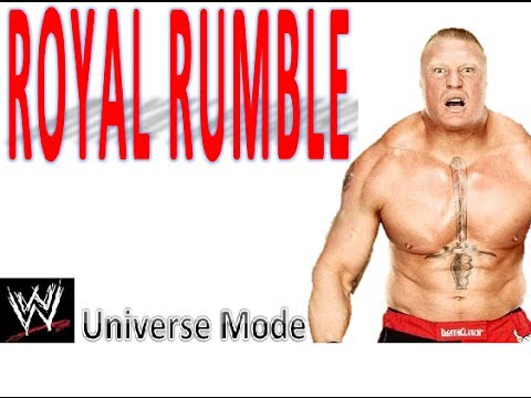 WWE 2K14 Universe Mode - Royal Rumble PPV - Match Card