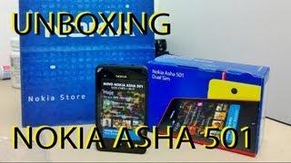 Unboxing Nokia Asha 501 Português!