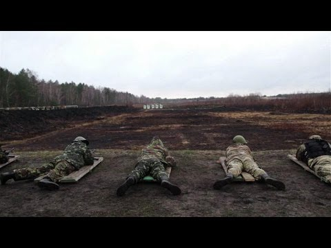 Military training in Kiev after Crimea vote