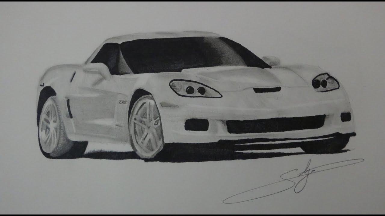 draw chevrolet corvette z06 youtube