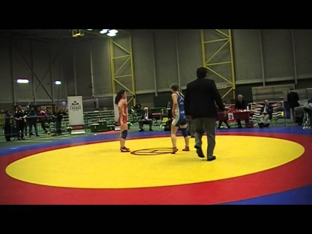 2014 Junior National Championships: 59 kg Final Anna McKee vs. Hayley Heffel