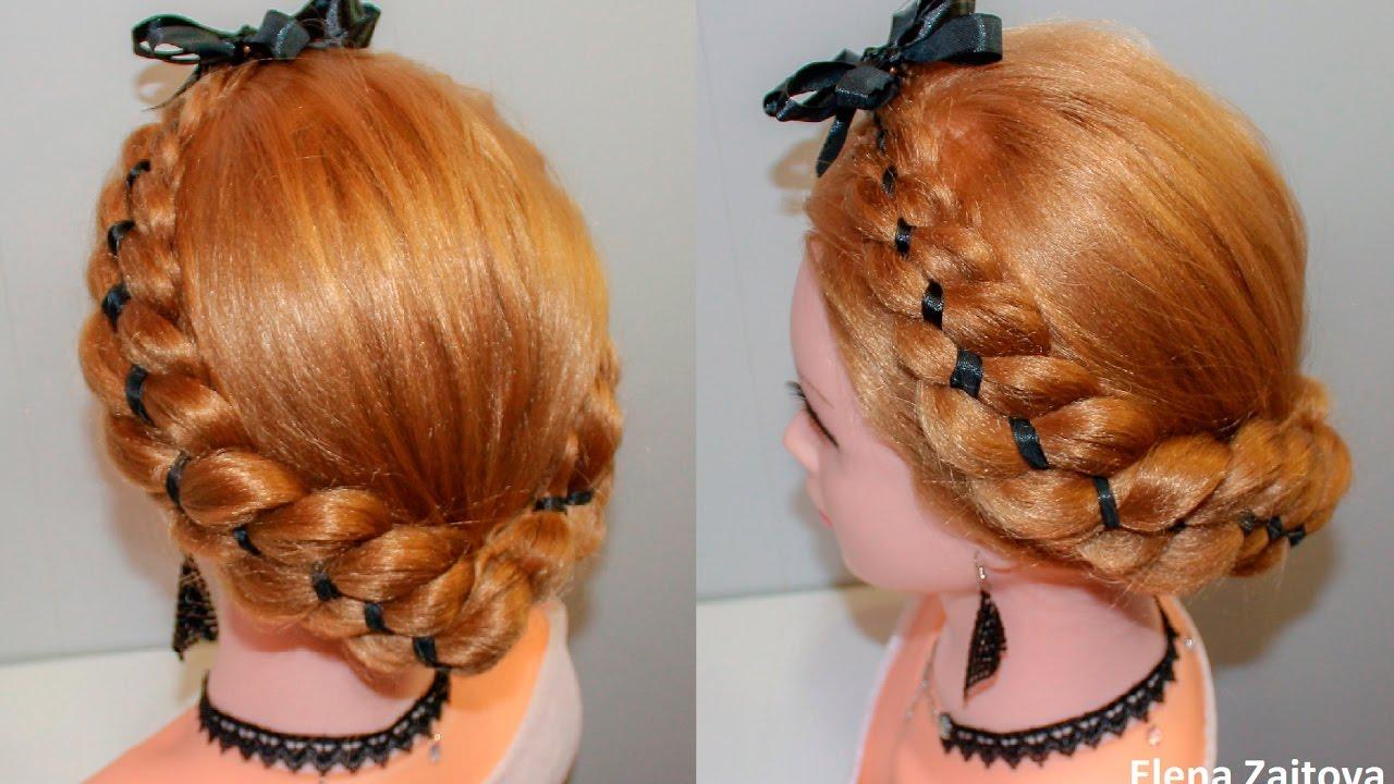 легкие прически из волос средней длин