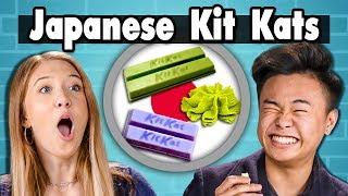 TEENS EAT JAPANESE KIT KATS!   People Vs. Food