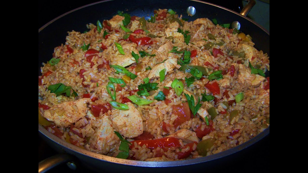 Spanish Chicken and Rice Skillet - Gluten Free - YouTube
