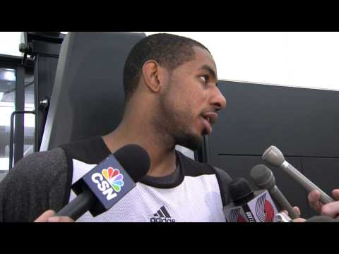 LaMarcus Aldridge After Day Four of Trail Blazers Training Camp