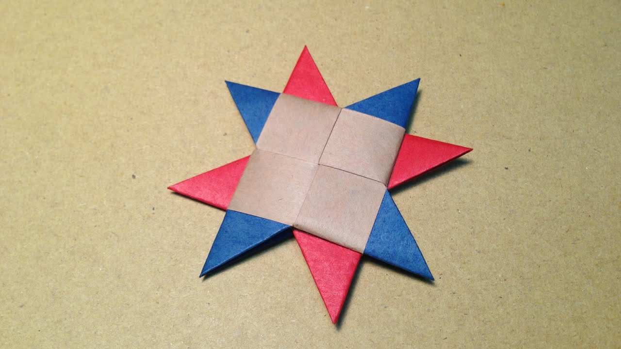 how to make a paper ninja star origami shuriken 8point