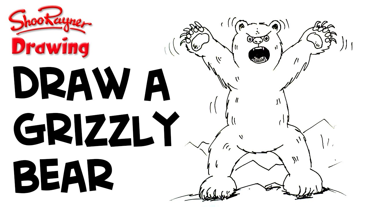 How to draw angry bear