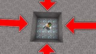 WALLS SLOWLY CLOSE on XRAY HACKER TROLL! (Minecraft Trolling)