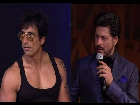 Sonu Sood and Shahrukh Khan at Screen awards