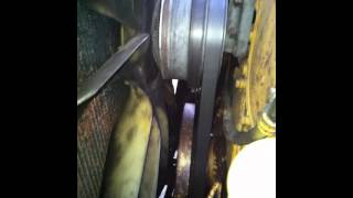 c15 engine, serpertine belt removal and install - youtube  youtube