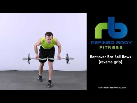 Bent over Bar Bell Rows Reverse Grip   Exercise Demonstration by Refined Body Fitness