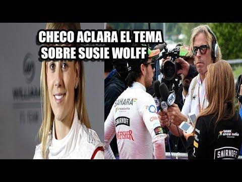 CHECO ACLARA EL TEMA SOBRE SUSIE WOLFF