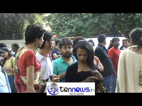 Lesbians, Gays , Transexuals united in celebration of Supreme Court order on their rights , at Delhi